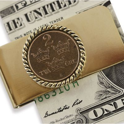 Swedish Coin ore Crown Moneyclip