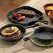 3-Piece Pre-Seasoned Cast Iron Set