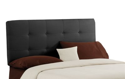 Patterned Cotton Tufted Headboard