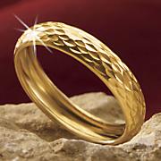 gold diamond cut band