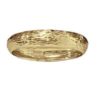 14K Gold Diamond-Cut Band