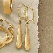 Satin-Drop Wire Earrings