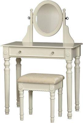 White Lorraine Vanity Set