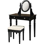 Black Lorraine Vanity Set