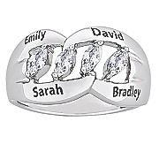 personalzied family marquise ring