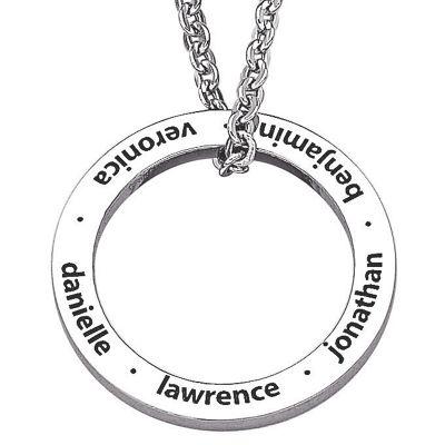 Personalized Family Circle Pendant