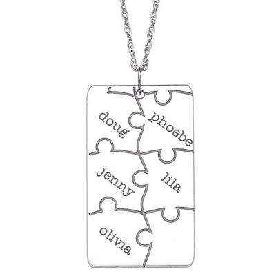 Personalized Family Puzzle Pendant