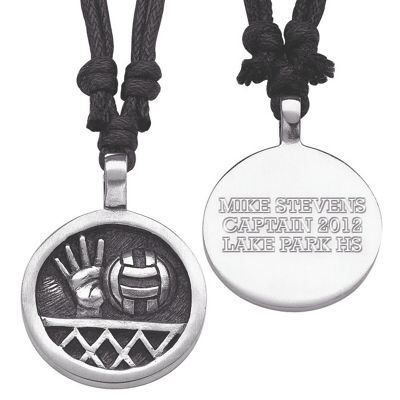 Personalized Pewter Sports Pendant
