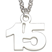 sterling silver number pendant