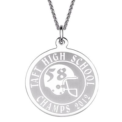 Personalized Round Sports Pendant