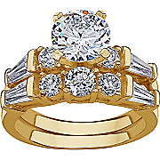 Cubic Zirconia Wedding Ring Set
