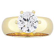 solitaire cubic zirconia with wide band