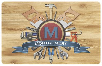 Personalized Handyman Name & Monogram Mat