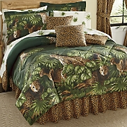 cheetah complete bedding set pillow and window treatments