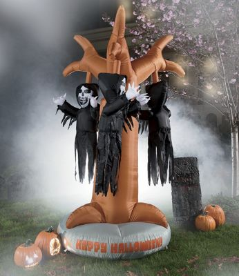 Inflatable Rotating Grim Reaper Tree