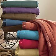 Satin-Trimmed Down-Alternative Blanket