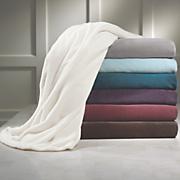 Liquid Silver Microfiber Fleece Blanket