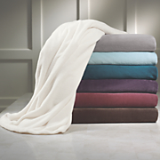 liquid silver microfiber fleece blanket