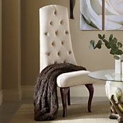 high back tufted chair