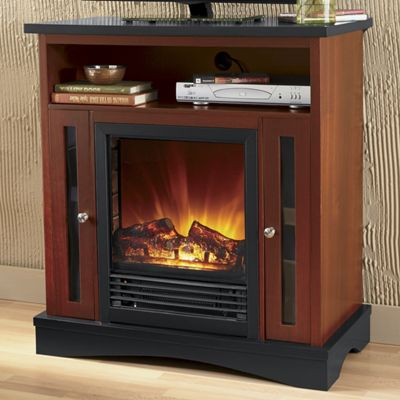 Two-Tone Storage Fireplace
