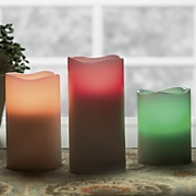 3 piece flameless candle set with remote control