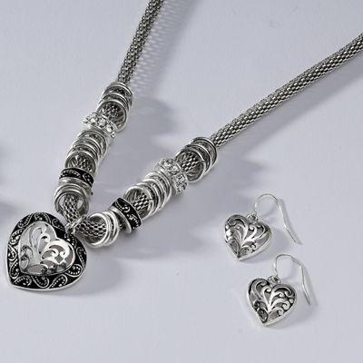 Heart Necklace/Earring Set