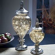 helen lighted glass jar