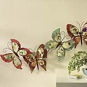 layered butterfly wall art