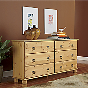 scandinavian 6 drawer lowboy