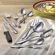89 piece tamsin stainless steel flatware set