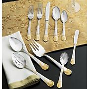 45 piece georgian flatware set