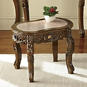 Hand-Carved End Table