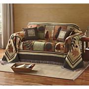 autumn scenes furniture throw