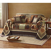 autumn leaves furniture throws and decorative pillow
