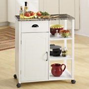 marble look kitchen cart