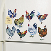 roosters or chefs magnet set
