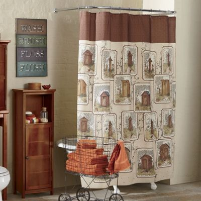 Outhouse Shower Curtain from Through the Country Door