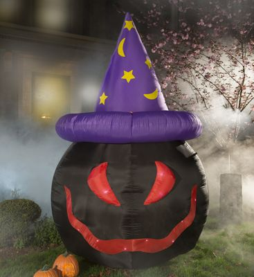 Unique's Shop Inflatable Black Pumpkin with Witch Hat at Sears.com