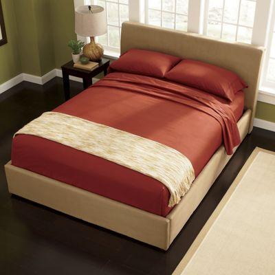Microfiber Platform Bed