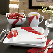 16 piece brushstroke dinnerware set
