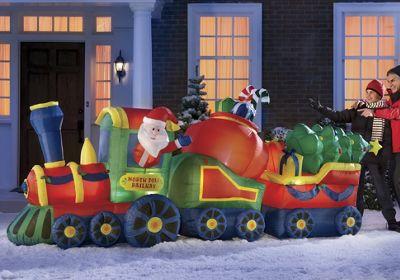 Inflatable Santa Train