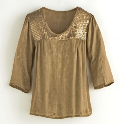 Golden Moments Jacquard Top