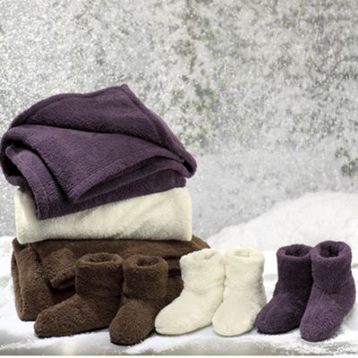 Plush Throw and Bootie Set
