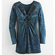 lace applique peacock top