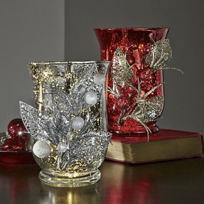 Holiday Glitter LED Candleholder