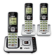 dect 6 0 cordless phone with 3 handsets