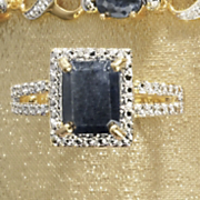 sapphire rectangle ring