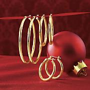 3 pair hoop earrings set 3
