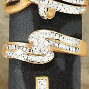 diamond cluster swirl ring
