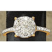 diamond round cluster ring 40